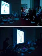 LE PETIT GARCON ET BUNNYBLU - photo montage from performance