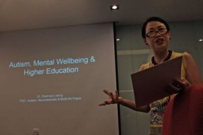 """""""Autism, Mental Wellbeing & Higher Education"""" - NUS Office of Student Affairs. 9 March 2018"""